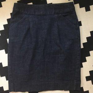 J. Crew Stretch Denim Skirt With Pockets Sz 2